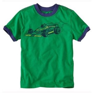 Hanna Andersson Boys Supersoft Jersey Vroom Tee